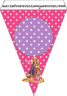 Banderines para imprimir gratis de Enredados (Rapunzel).