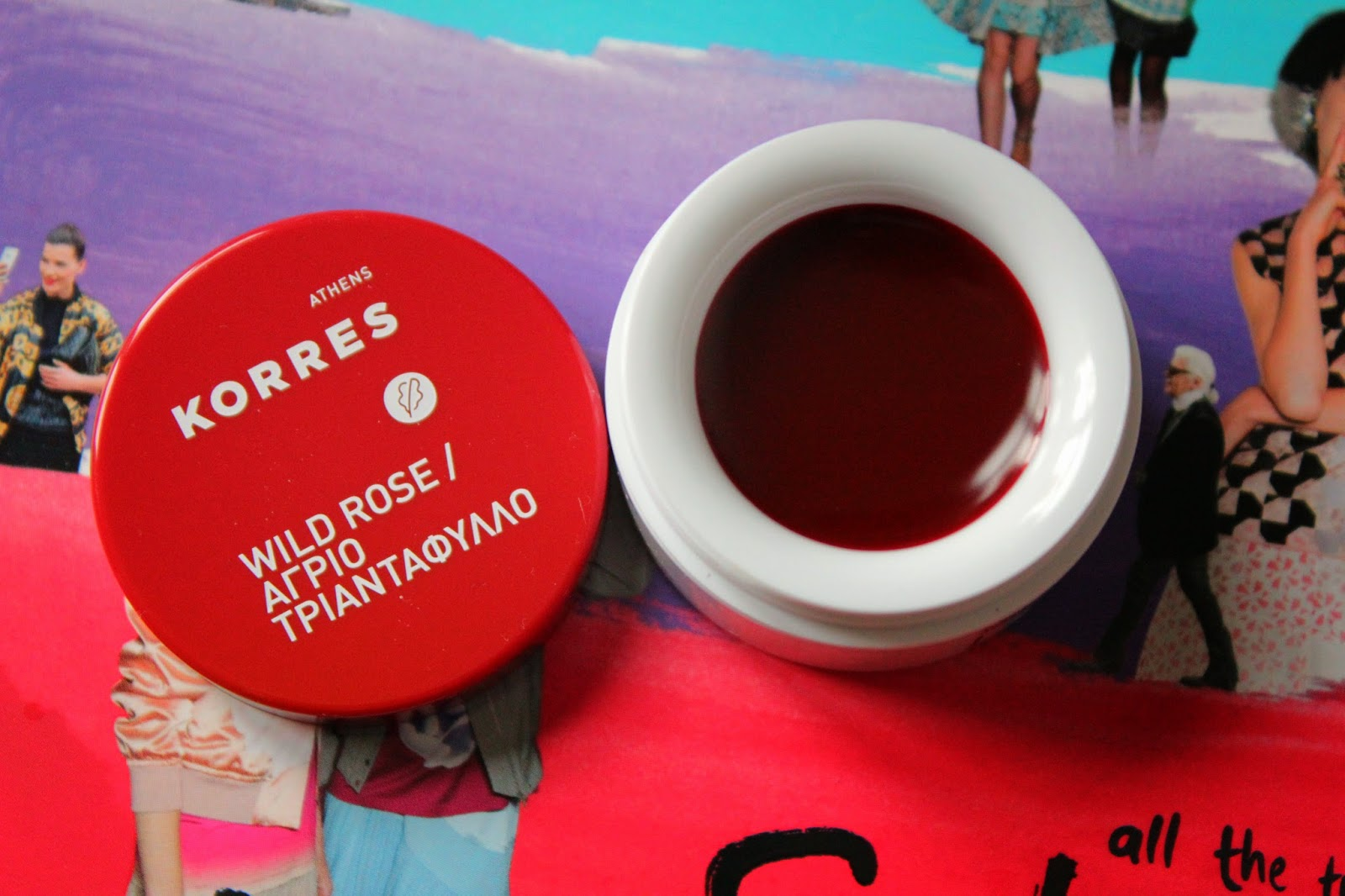 Korres Lip Butter Wild Rose Swatch