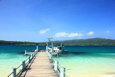 Peucang Island dock