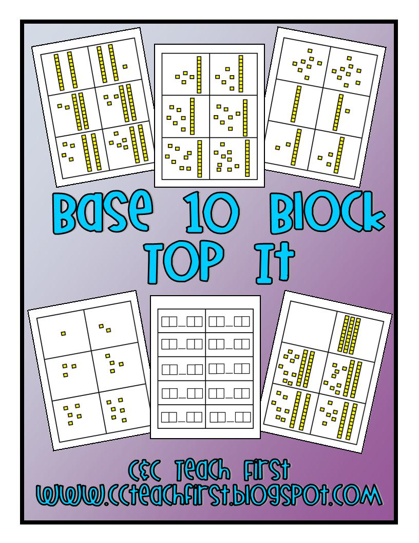 Clip Art by Carrie Teaching First: Base 10 Block War Game