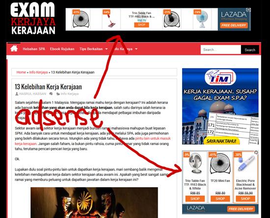 Sebab permohonan Adsense blog Bahasa Melayu Ditolak
