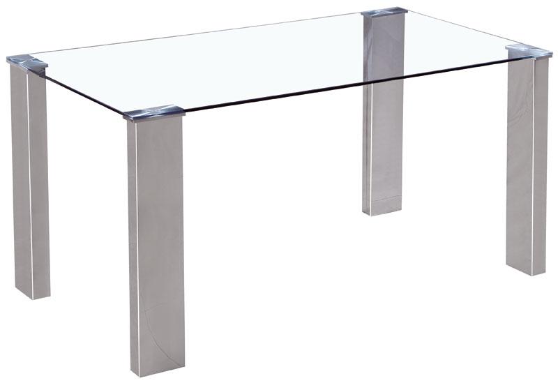 Muebles de forja mesas de comedor en aluminio y cristal mobli for Mesas de comedor de cristal y aluminio