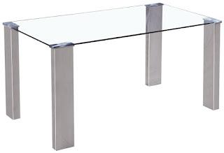 Mesa cristal rectangular