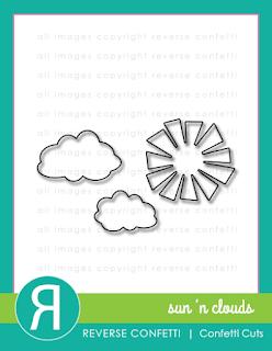 sun 'n clouds confetti cuts