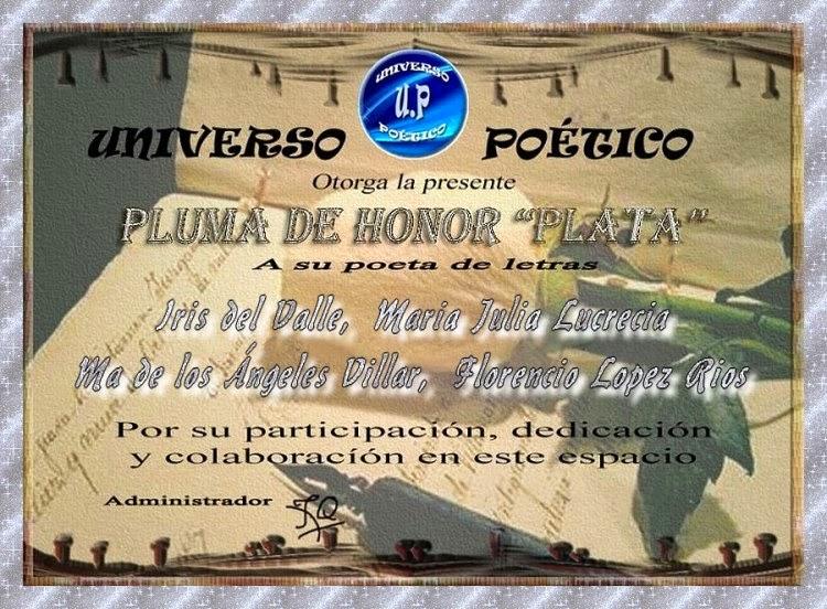 PLUMA DE PLATA DE UNIVERSO POÉTICO