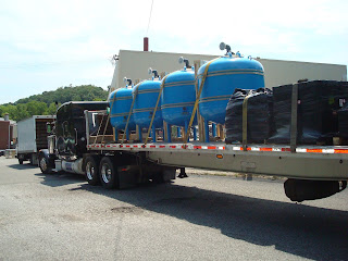 Four New Greensand Filters with the Greensand Media Ready for Shipment to Water Utility in Pennsylvania