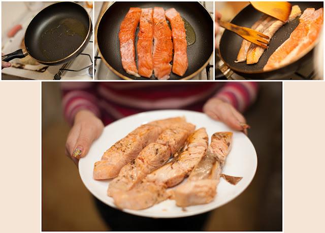 Жарим рыбу, выкладываем на тарелку