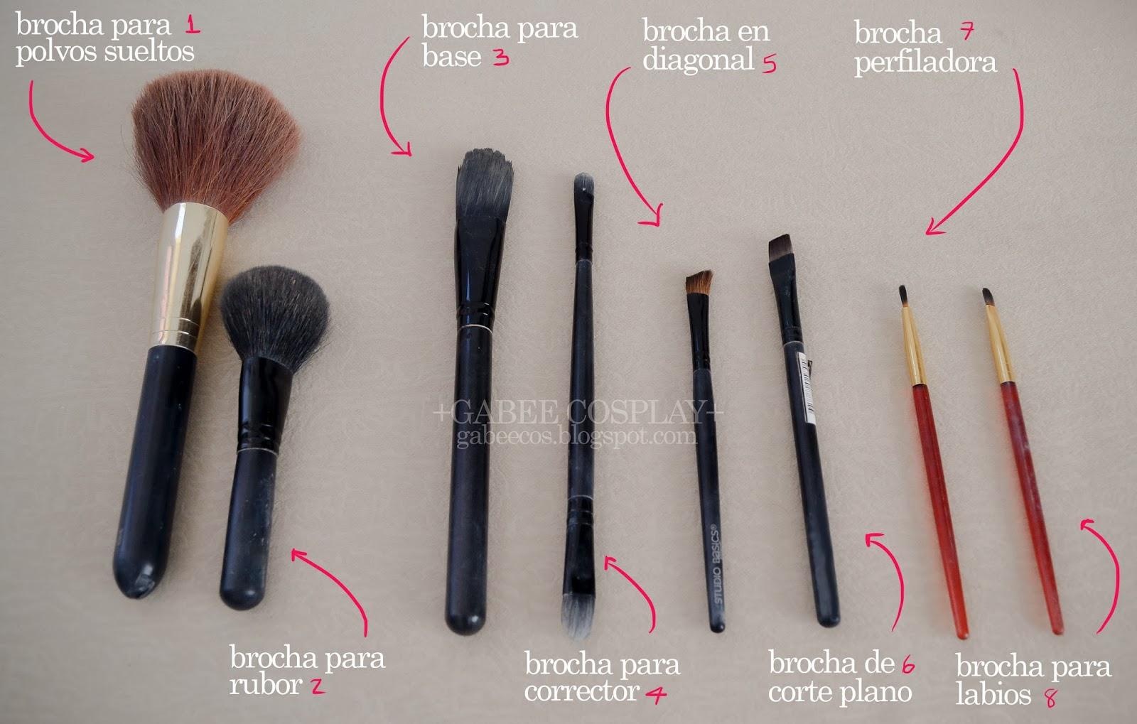 Gabee carrera arts mis brochas basicas para maquillaje - Como barnizar con brocha ...
