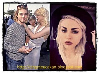 Frances Bean Cobain lebih nyaman dengan gaya rambut a la Kurt dan Courtney; panjang rambut sebahu, dicat peroxide blonde.