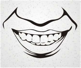 Video cara menggambar vector line art raut bibir dan hidung