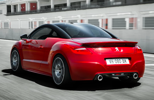 2014 Peugeot RCZ R black on red rear