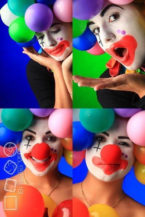 rg make up maquiagem de palhaço