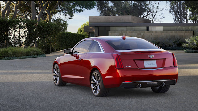 2016 New Cadillac ATS Coupe Test Drive back view