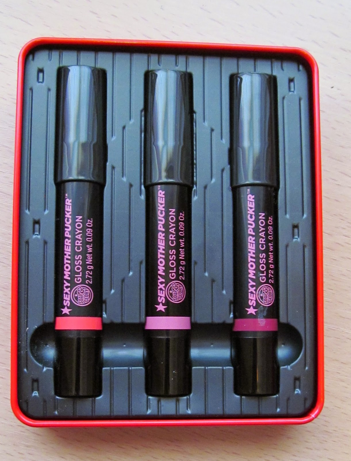 Soap and glory gloss crayons