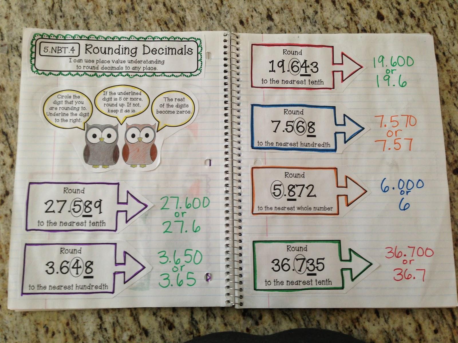 FINALLY: 5th Grade Interactive Math Notebooks!!! - Create●Teach ...