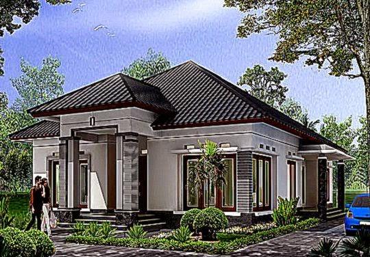 Desain Rumah Mewah Minimalis 1 Lantai Yang Megah   Rumah minimalis