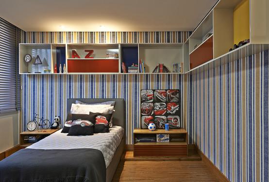 Dormitorios juveniles decorados para chicos modernos - Como amueblar una habitacion juvenil ...