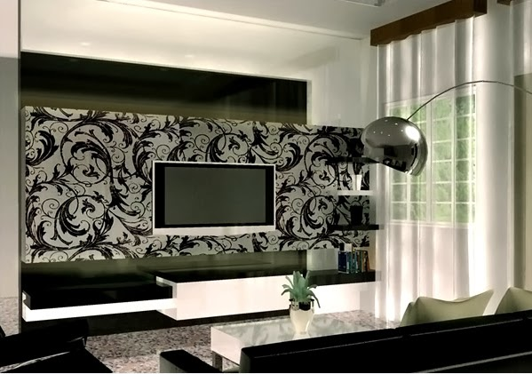 D coration salon en noir et blanc d coration salon d cor de salon for Outil de conception salon