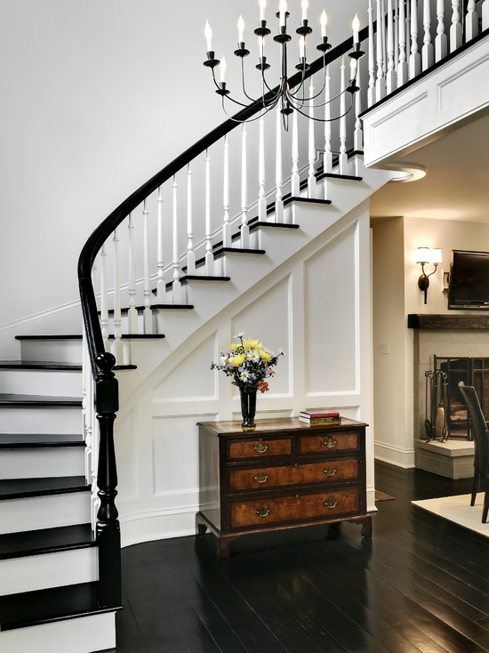 Black And White Stairs on spanish interior design ideas