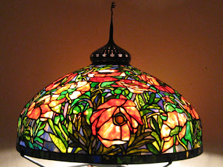 Bamboo Pattern Shade Stained Glass Tiffany Table Lamp - Buy