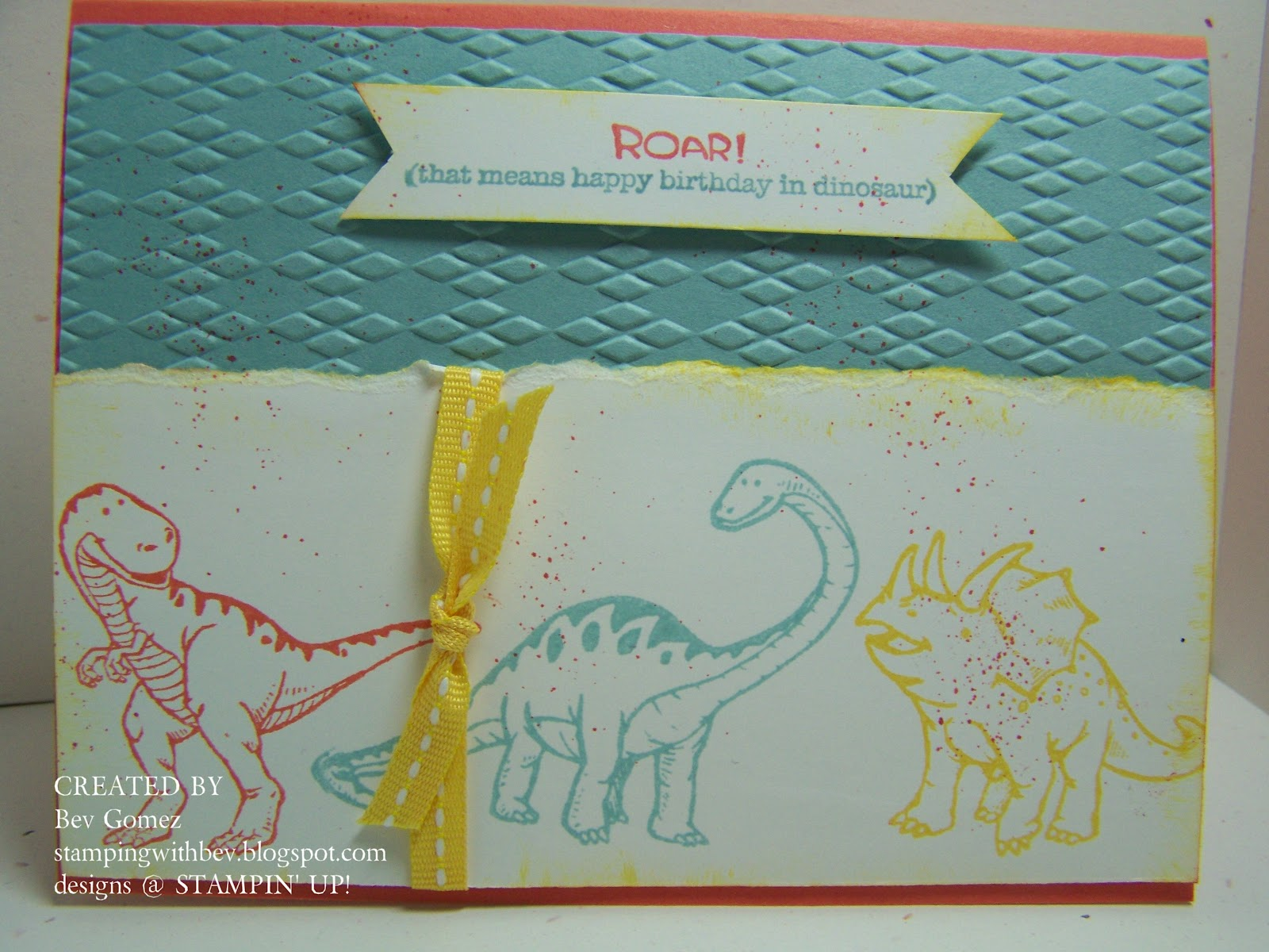 Stampin Up Birthday Cards For Kids ~ Stamping with bev kids birthday card stampin up