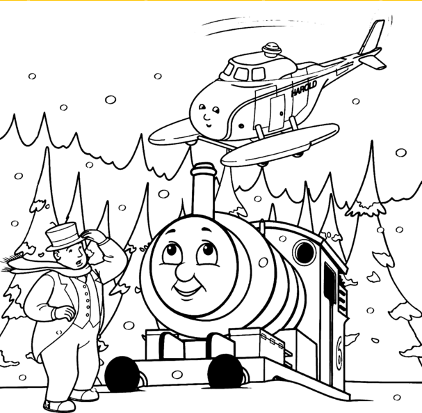 Thomas and friends coloring pages save for kids