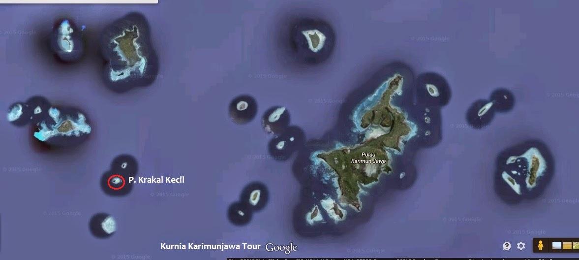 lokasi pulau krakal kecil karimun jawa
