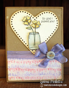 Flower Jar Card by Larissa Heskett for Inky Paws Challenge #9 | Newton's Nook Designs