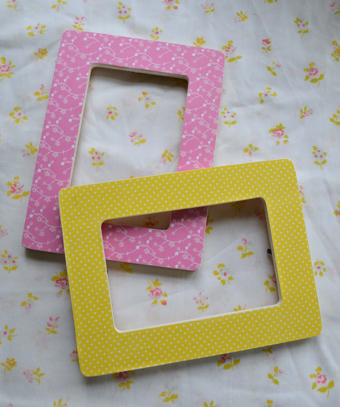 pink and yellow frames