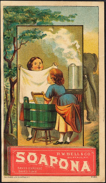 Climbing My Family Tree: Ad for laundry soap, approx 1910