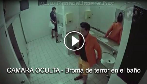CÁMARA OCULTA - Broma de terror dentro de un baño