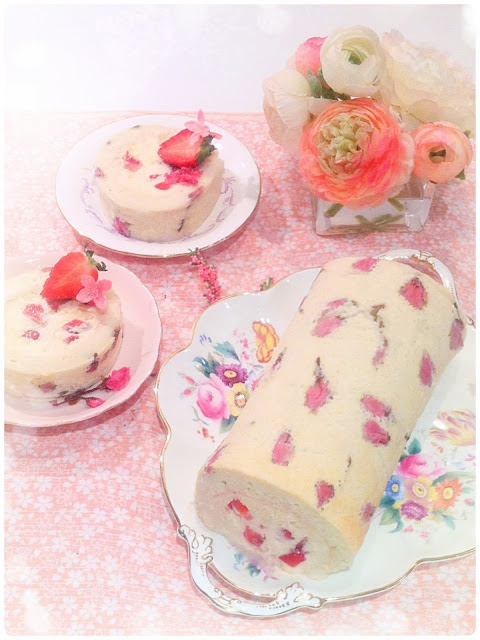 Cherie Kelly's Cherry Blossom Sakura Soufflé Cake Roll