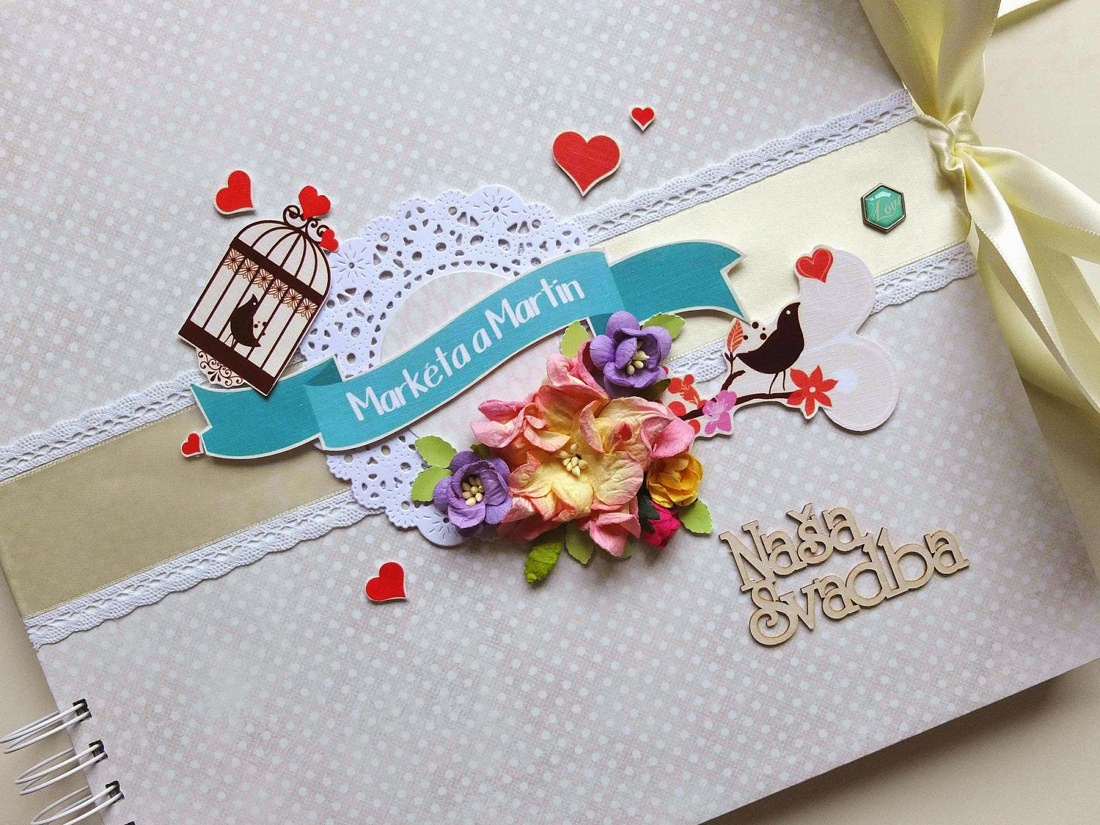 Netradičný svadobný album s vtáčikmi / Special wedding album with birds