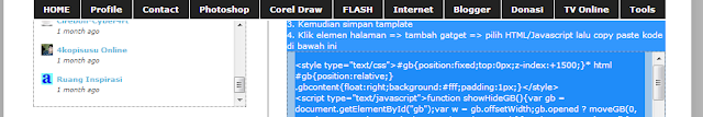 Cara Buat Menu Dropdown Melayang di Blog