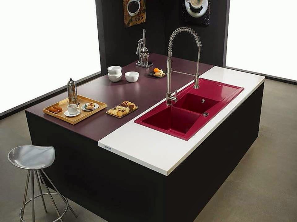home decor colorful kitchen stainless steel sink