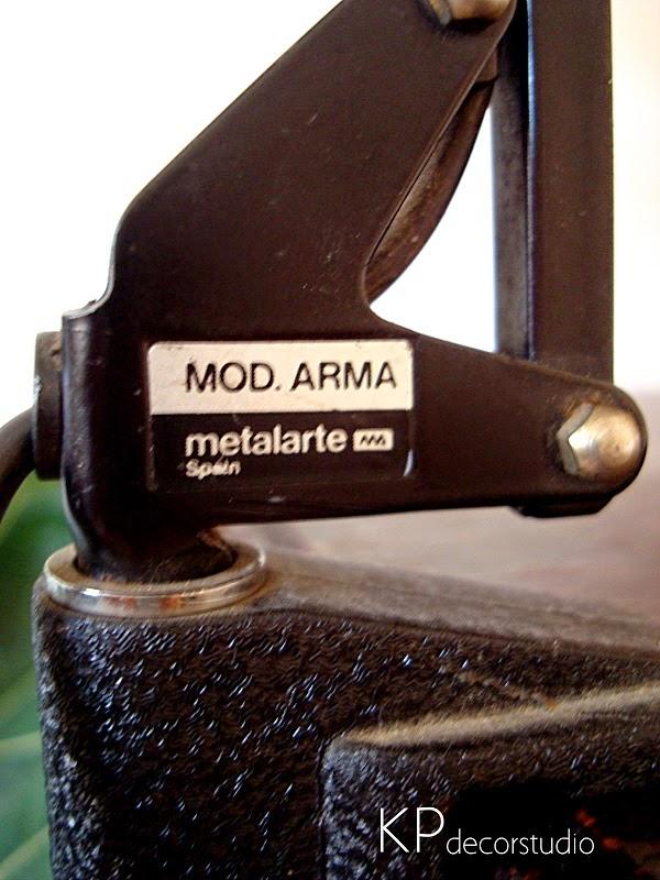 Lámparas de sobremesa vintage metalarte