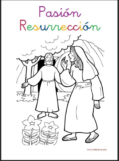 Jesús te llama - Resurrección niños hojas colorear