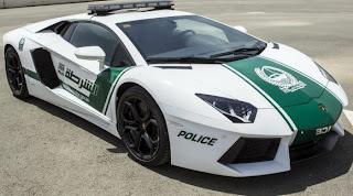 Lamborghin Aventador con el que patrullará la policía en Dubai: