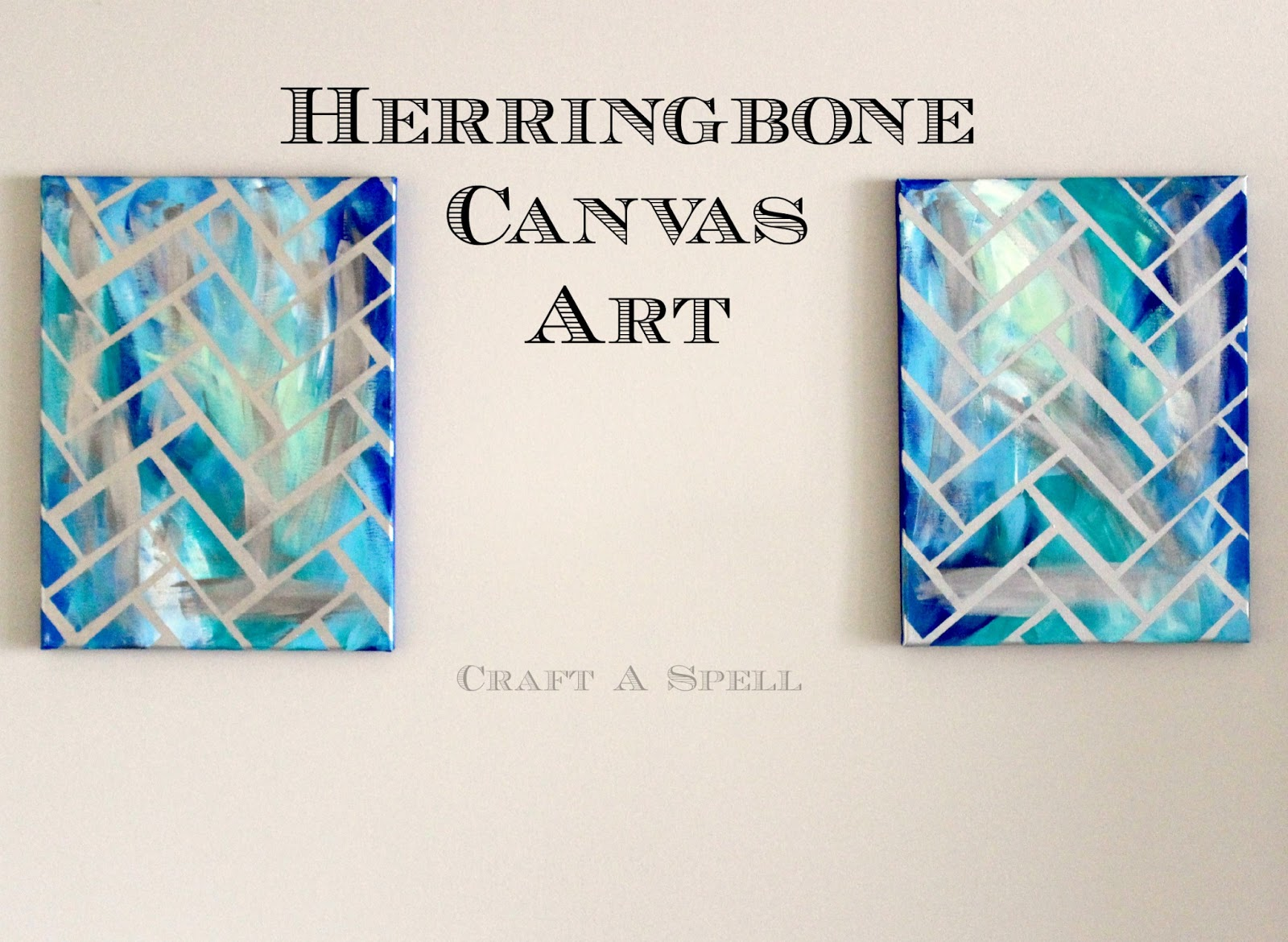 Craft a spell diy herringbone canvas art diy herringbone canvas art solutioingenieria Image collections