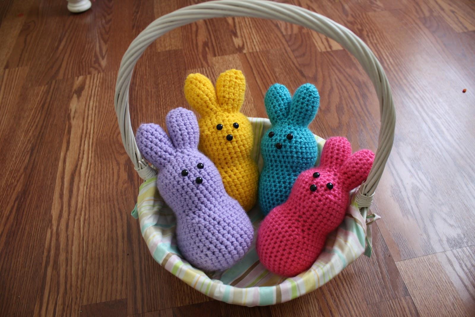 Little Creative Nest: Crochet Bunny Peeps!