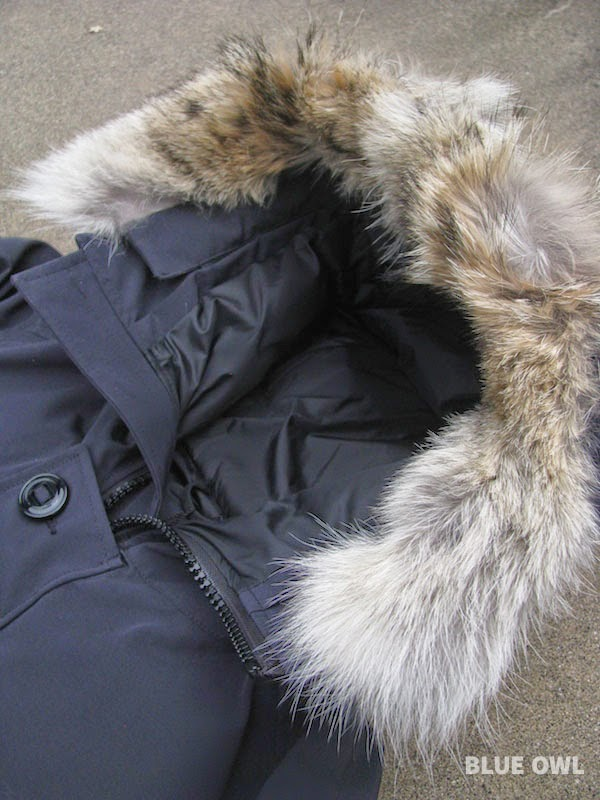 canada goose made with real fur