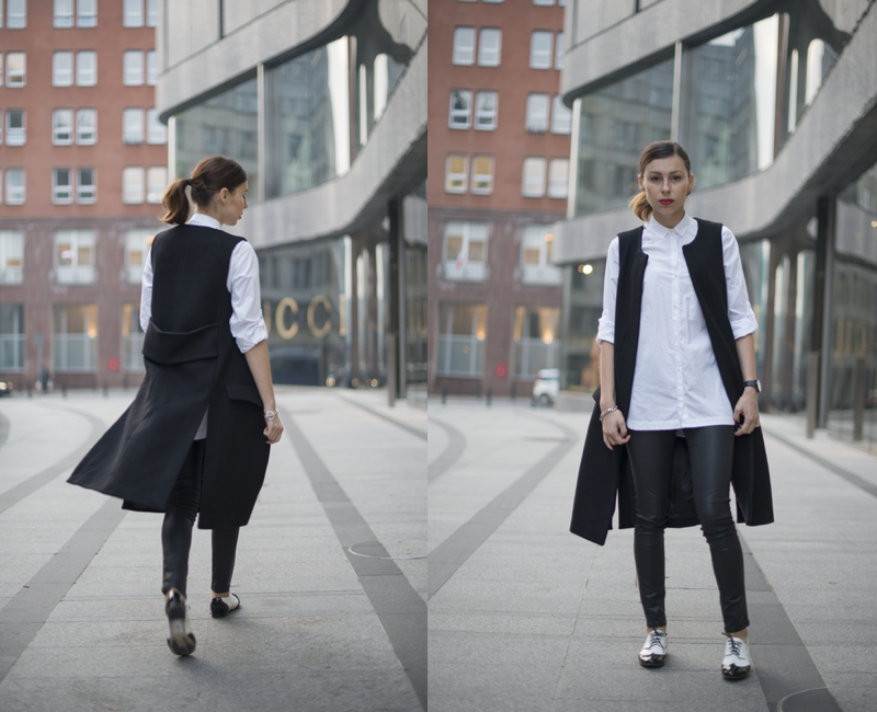 black and white look fashion blog