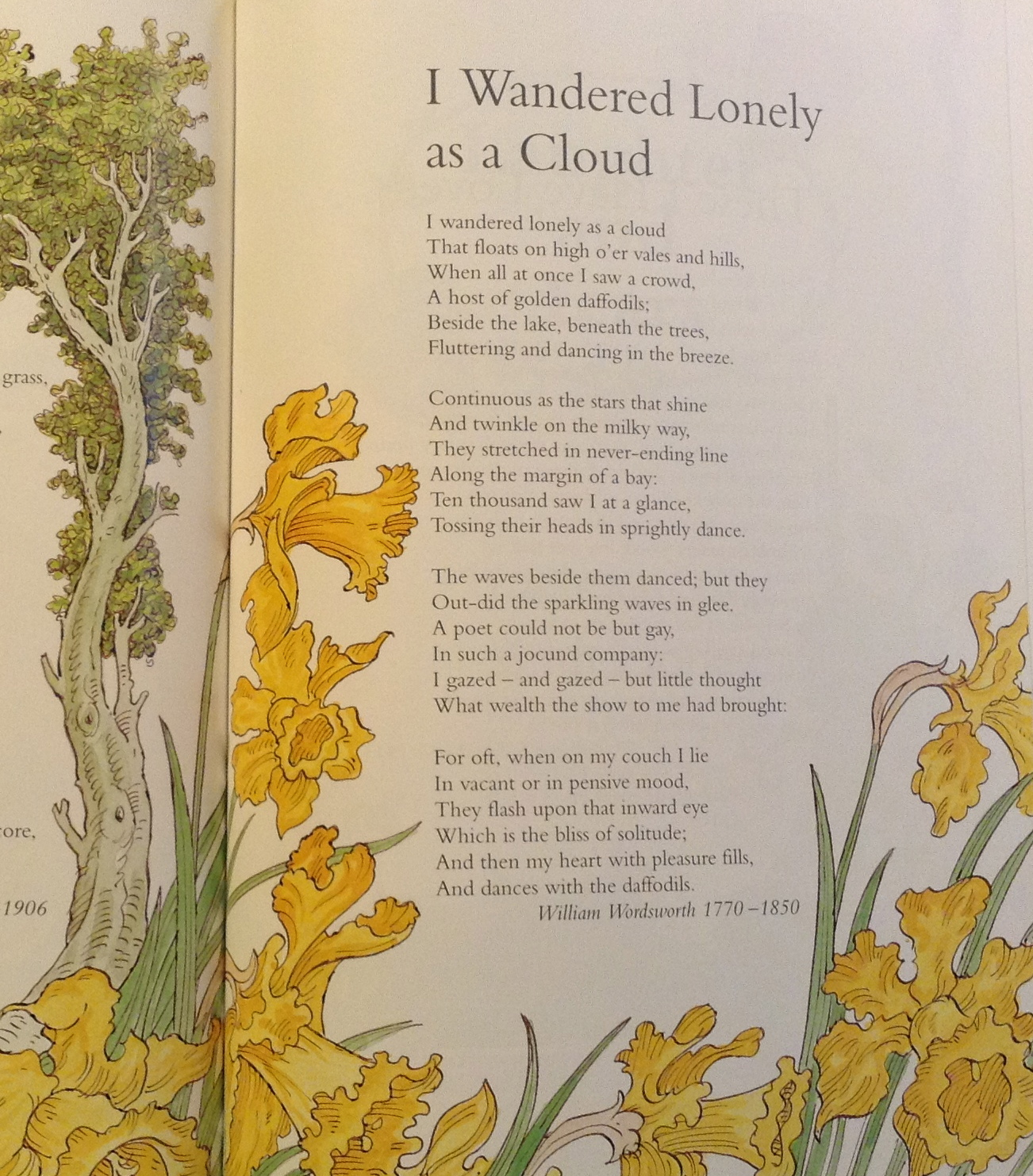 analysis of the daffodles Comments & analysis: i wandered lonely as a cloud / that floats on high o'er vales and hills.