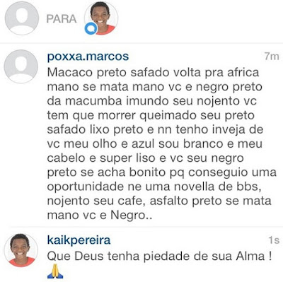 racismo no instagram