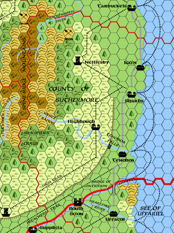 Mystara Alphatia Foresthome Map Suthermore