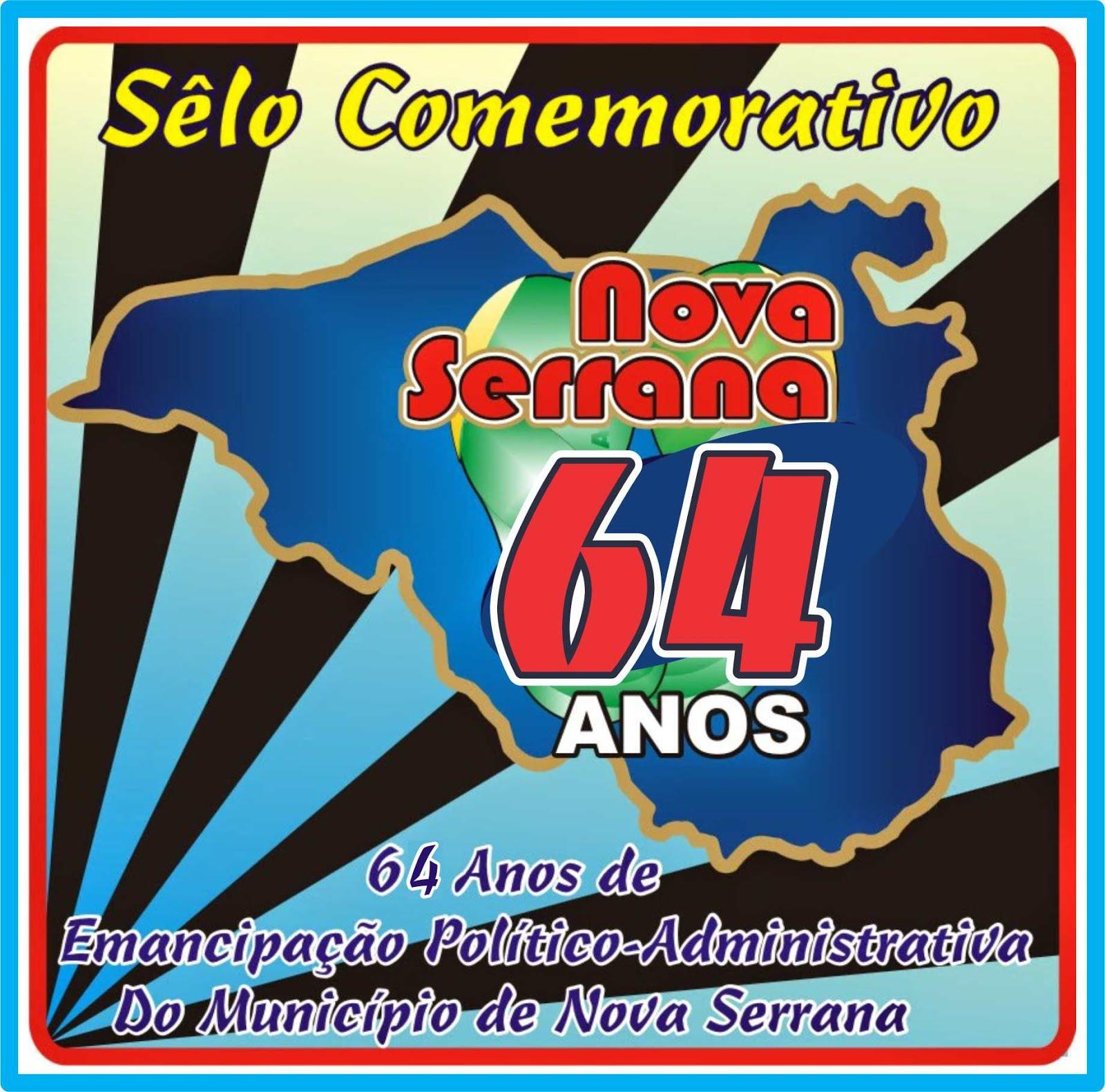 Sêlo Comemorativo dos 64 Anos de Emancipação de Nova Serrana