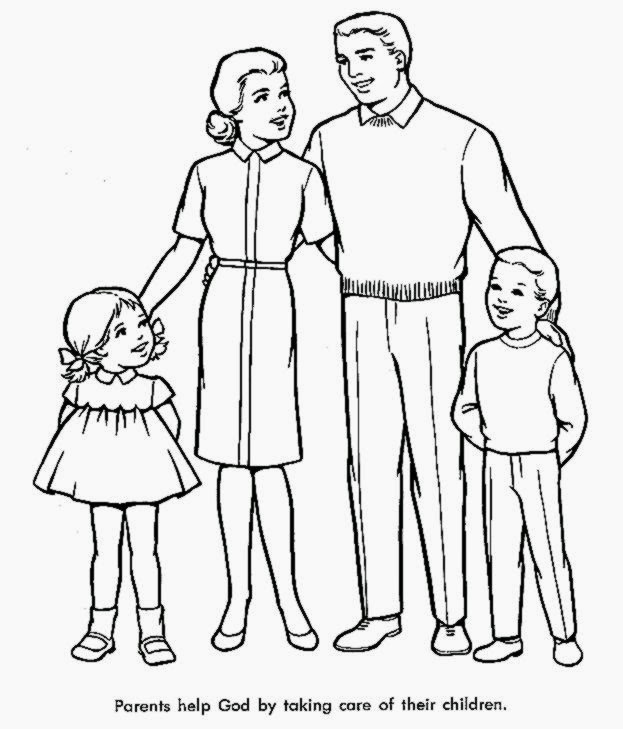 free online family coloring pages - photo#1
