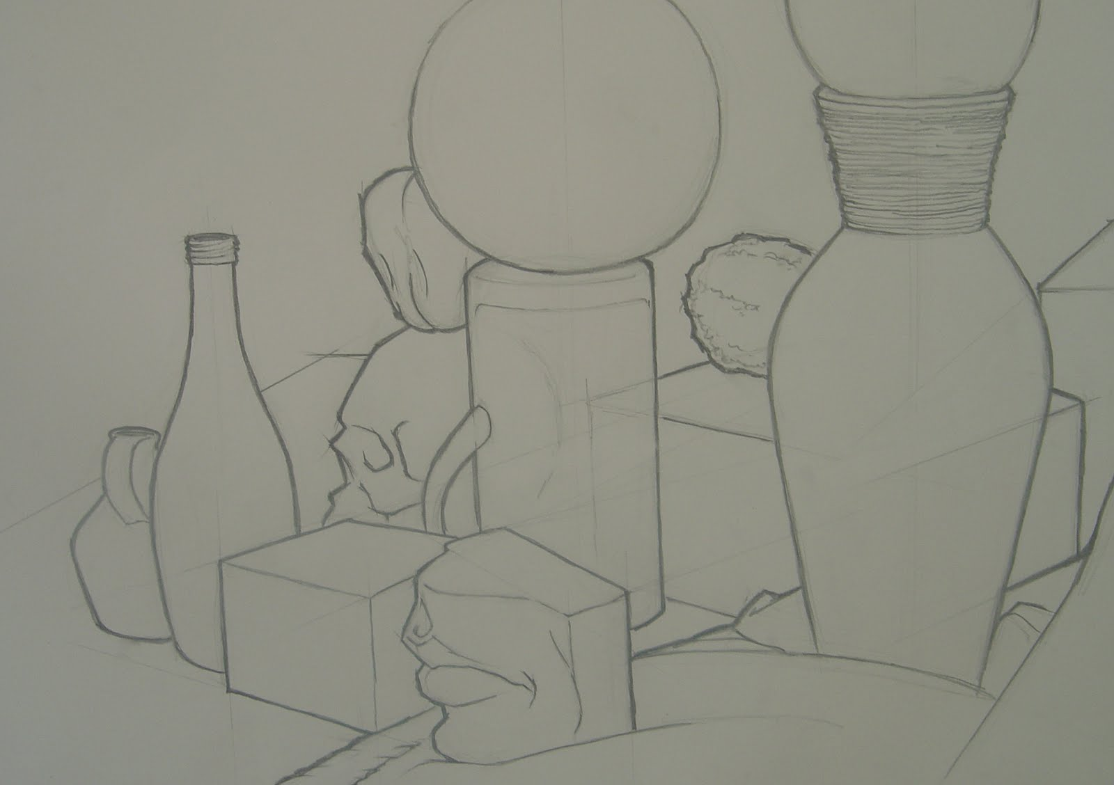 Line Drawing Still Life : Cate brown contour line