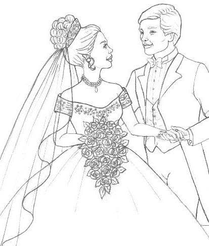 Wedding Flowers Coloring Pages To Girls Wedding Bouquet Coloring Pages