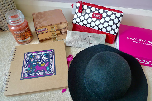 What I got for my 20th birthday 2015 - paperchase scrapbook, rose gold jewellery box, cinnamon yankee candle, H&M paris hat